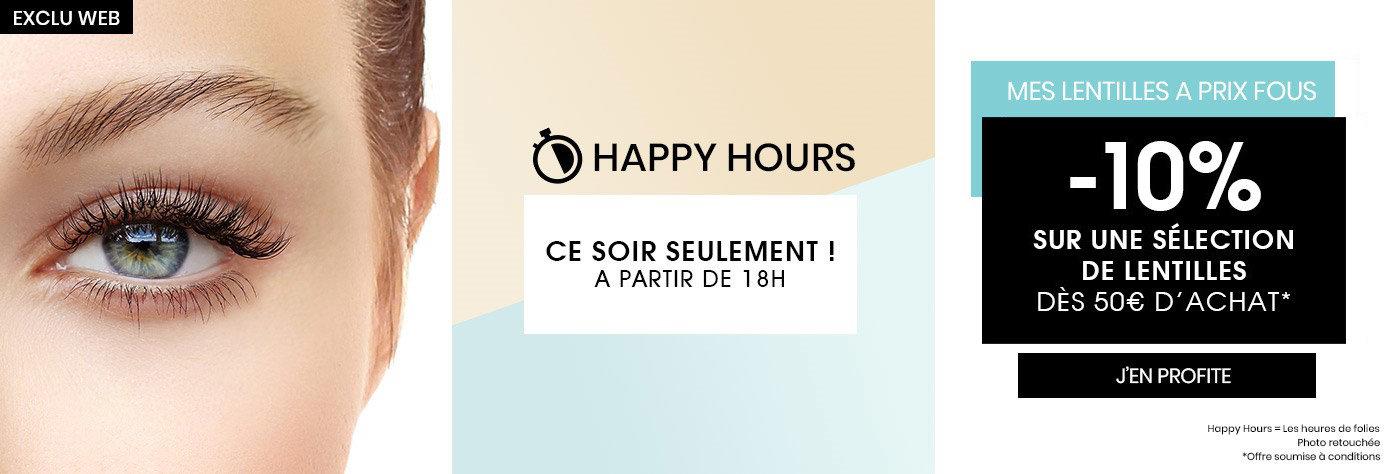 Happy Hours Lentilles de Contact