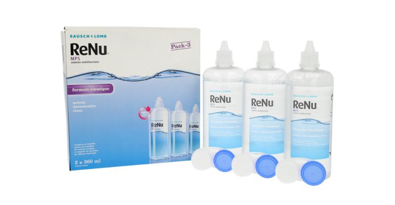 Produit Lentille RENU Renu Mps - Pack 3X360 Ml