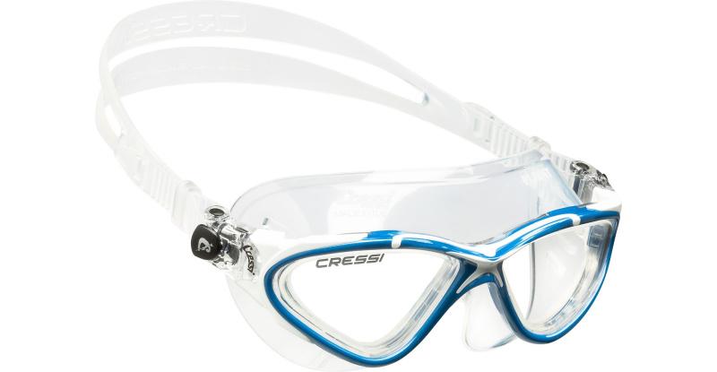 Lunettes de piscine CRESSI PLANET-Clear/Blanc Bleu