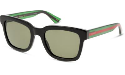 Lunettes de soleil Gucci GG0001S 002 BLACK-GREEN-GREEN