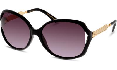Lunettes de soleil Gucci GG0076S 002 BLACK-GOLD-GREY