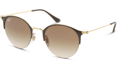 Lunettes de soleil RAY-BAN RB3578 900913 GOLD TOP BROWN