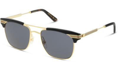 Lunettes de soleil Gucci GG0287S 001 BLACK-GOLD-GREY