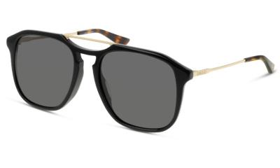 Lunettes de soleil Gucci GG0321S 001 BLACK-GOLD-GREY