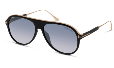 f23f354b69b Lunettes de soleil Tom Ford FT0624 01C SHINY BLACK