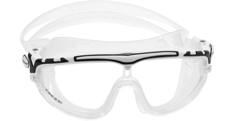 Masque de natation CRESSI SKYLIGHT CLEAR BLANC/NOIR