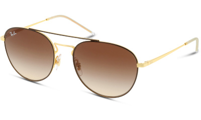 Lunettes de soleil RAY-BAN 0RB3589 905513 GOLD TOP ON BROWN