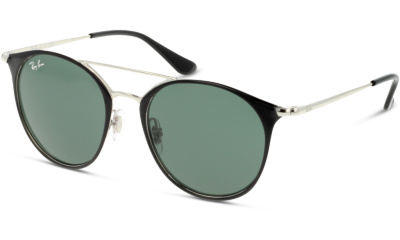 Lunettes de soleil RAY-BAN 9545S 271 SILVER ON TOP BLACK