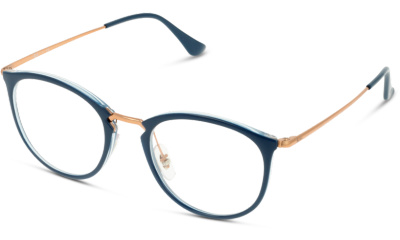 28d53b86a4 Lunettes de vue Ray Ban 7140 5853 TRANSPARENT ON TOP BLUE