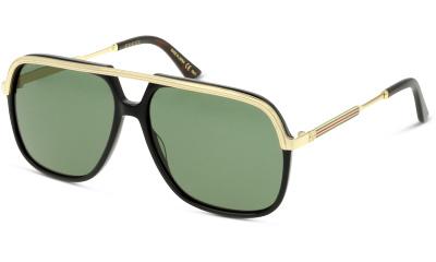 Lunettes de soleil Gucci GG0200S 001 BLACK-GOLD-GREEN