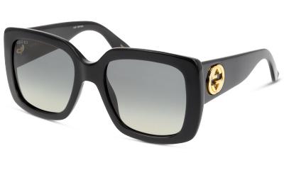 Lunettes de soleil Gucci GG0141S 001 BLACK-GREY