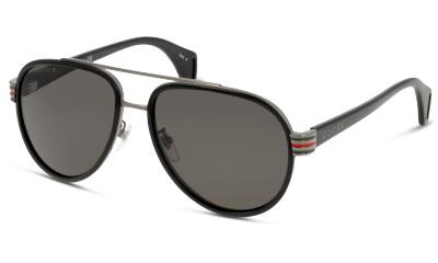 Lunettes de soleil Gucci GG0447S 001 BLACK-GREY
