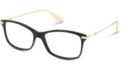 Lunettes de vue Gucci GG0513O 001 BLACK-GOLD-TRANSPARENT