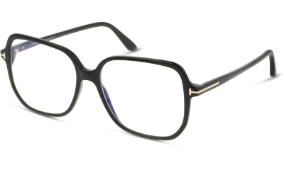 2761673637d Lunettes de vue Tom Ford FT5578-B 001 SHINY BLACK