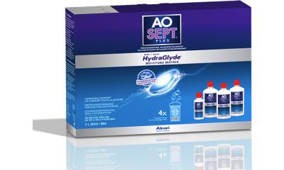Produit Lentille AOSEPT Aosept Plus Hydraglyde 3x360ml