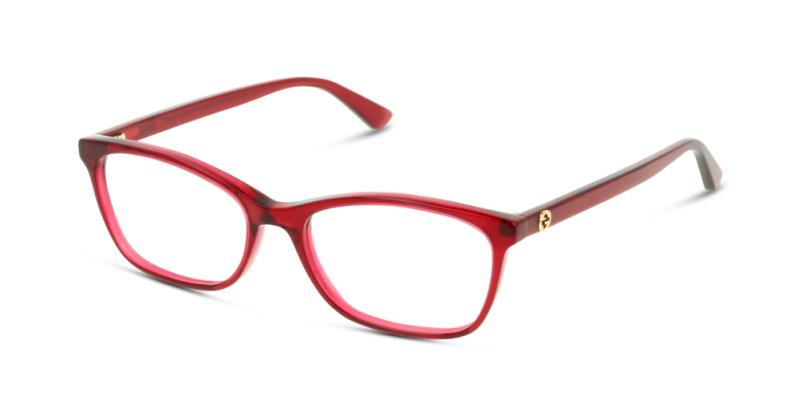 Lunettes de vue Gucci GG0613O 004 RED TRANSPARENT