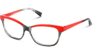 Lunettes de vue Alain Mikli A03037 001 BLACK CRYSTAL PONTILLE' RED