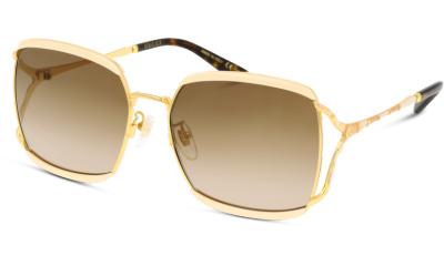 Lunettes de soleil Gucci GG0593SK 003 IVORY GOLD BROWN