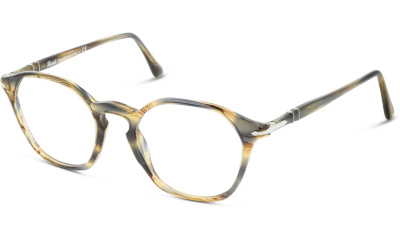 Lunettes de vue Persol PO3238V 1049 STRIPPED BROWN GREY