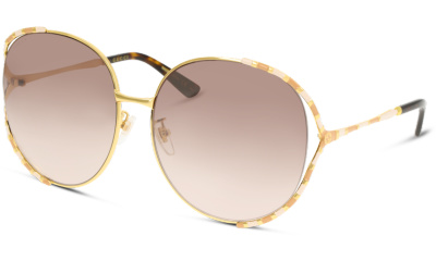 Lunettes de soleil Gucci GG0595S 008 GOLD-GOLD-BROWN
