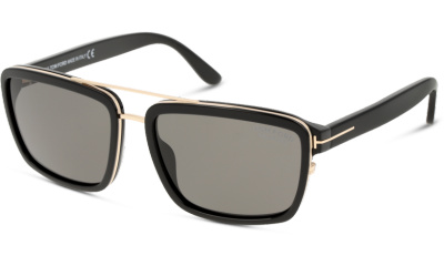 Lunettes de soleil Tom Ford FT0780 01D shiny black / smoke polarized