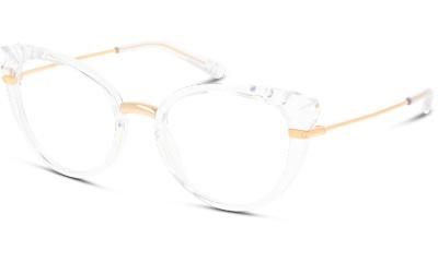 Lunettes de vue Dolce & Gabbana DG5051 3133 CRYSTAL/GOLD TRANSPARENT