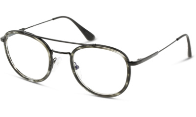Lunettes de vue Prada PR66XV 05A1O1 STRIPED GREY/GUN METAL/BLACK