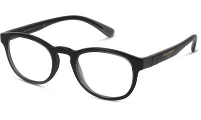 Lunettes de vue Dolce & Gabbana DG5049 3257 TRANSPARENT GREY BLACK