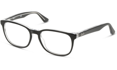 Lunettes de vue RAY-BAN RY1592 3529 TOP BLACK ON TRANSPARENT