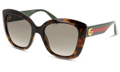 Lunettes de soleil Gucci GG0860S 001 HAVANA GREEN BROWN