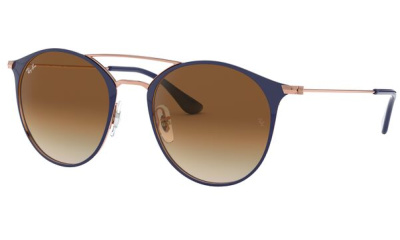 Lunettes de soleil RAY-BAN RB3546 917551 COPPER ON TOP DARK BLUE
