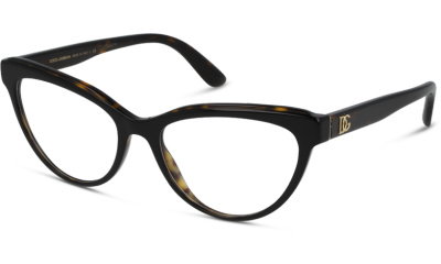 Lunettes de vue Dolce & Gabbana DG3332 3270 TOP BLACK ON HAVANA