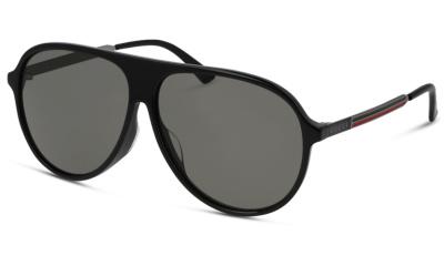 Lunettes de soleil Gucci GG0829SA 001 BLACK RUTHENIUM GREY