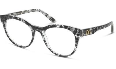 Lunettes de vue Dolce & Gabbana DG3334 3287 BLACK LACE