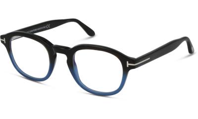 Lunettes de vue Tom Ford FT5698-B 055 COLOURED HAVANA/BLACK BLUE