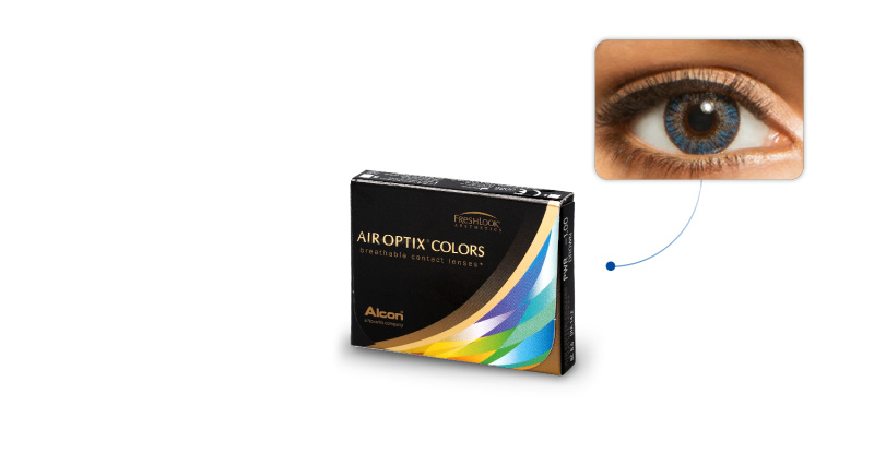 Lentilles de contact Air Optix Air Optix Colors BLEU AZUR