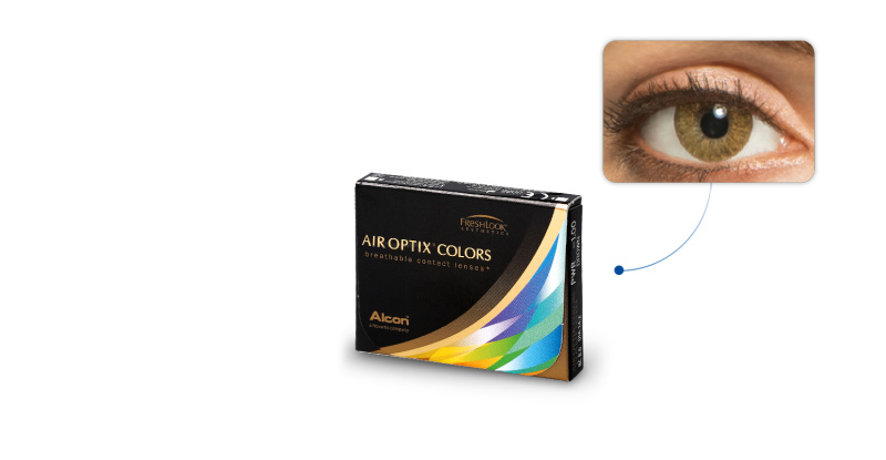 Lentilles de contact Air Optix Air Optix Colors CARAMEL