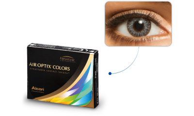 Lentilles de contact Air Optix Air Optix Colors GRIS ETINCELANT