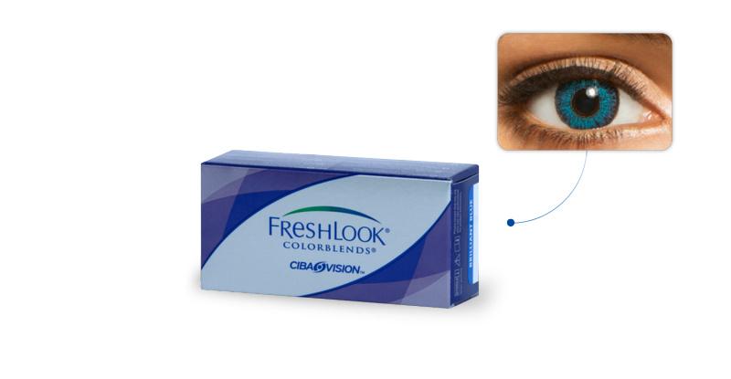 Lentilles de contact Freshlook Freshlook Colorblends BLEU BRILLANT