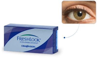 Lentilles de contact Freshlook Freshlook Colorblends CARAMEL (Pure hazel)