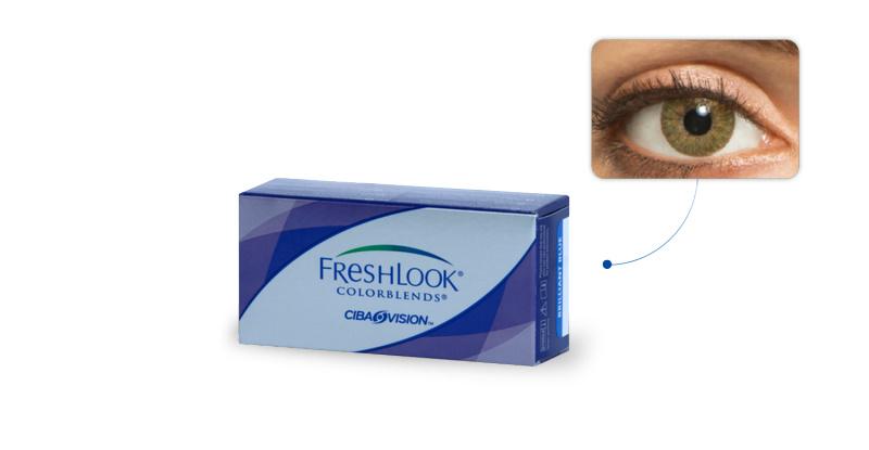 Lentilles de contact Freshlook Freshlook Colorblends VERT AMANDE (Green)