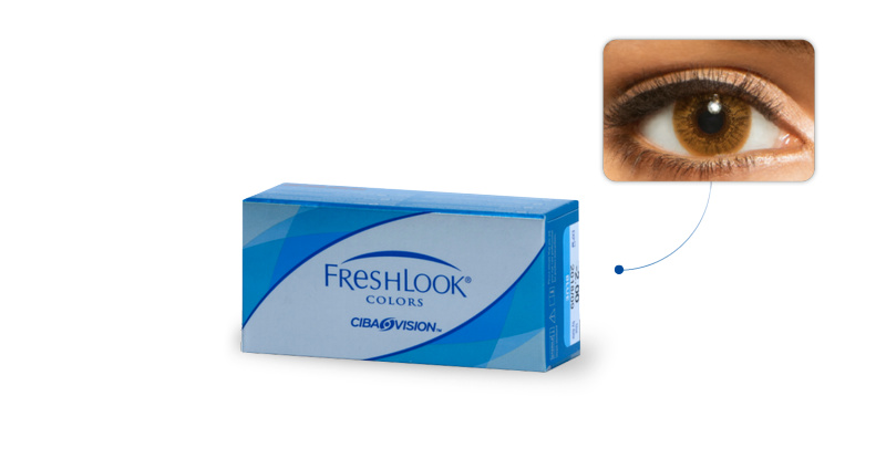 Lentilles de contact Freshlook Freshlook Colors NOISETTE (Hazel)