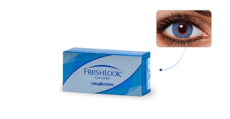 Lentilles de contact Freshlook Freshlook Colors SAPHIR (Sapphire blue)
