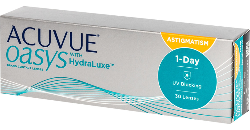Lentilles de contact Acuvue Acuvue Oasys 1 day for astigmatism with hydraluxe