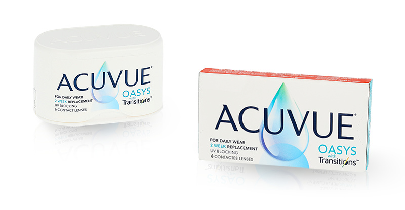 Lentilles de contact Acuvue ACUVUE OASYS with Transitions