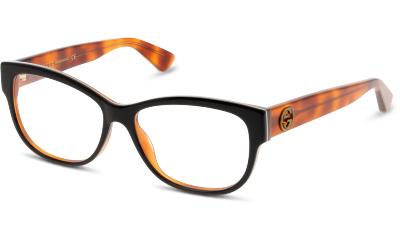 Lunettes de vue Gucci GG0098O 003 BLACK-AVANA-TRANSPARENT