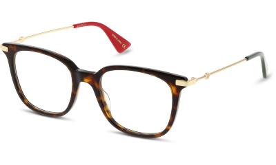 Lunettes de vue Gucci GG0110O 002 AVANA-GOLD-TRANSPARENT