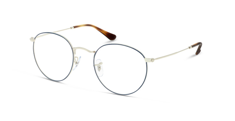 Lunettes de vue Ray Ban 3447V 2970 SILVER ON TOP BLUE