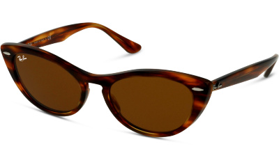 Lunettes de soleil Ray Ban 4314N 954 STRIPPED BROWN