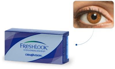 Lentilles de contact Freshlook Freshlook Colorblends AMBRE (Honey)